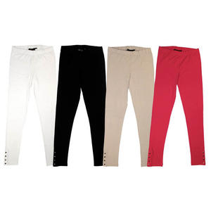 Leggings with silver buttons